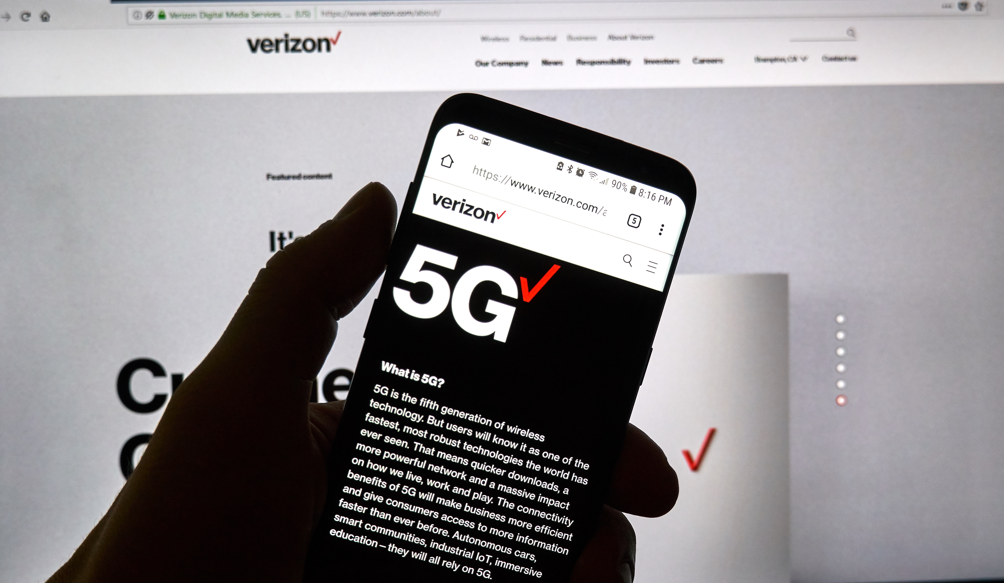 Verizon Turns on 5G Service in Select U.S. Cities